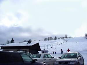 Wintersport in Wurzbach, in der Nähe des Rennsteiges