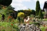 Garten der fereinwohnung und Pension